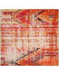 holiday savings on safavieh monaco nayva 5 u0027 square area rug in orange
