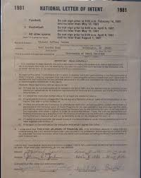 College National Letter Of Intent Michael Chooses A College In 1981 Work On Your With