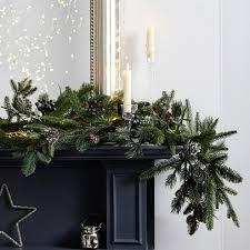 christmas garland rosemary pinecone christmas garland christmas wreaths