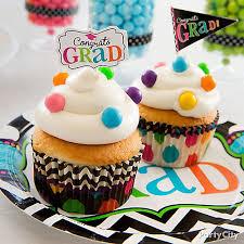 graduation cupcake ideas colorful dot graduation cupcakes idea colorful graduation party