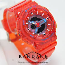 Jam Tangan Baby G Warna Merah jam tangan baby g ba110 merah transparan murah