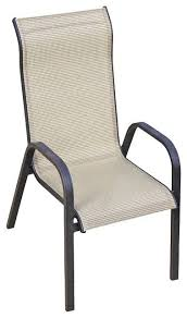 Stackable Patio Chairs Best Scheme Navona Sling Patio Chair Handy Delivery Of Sling
