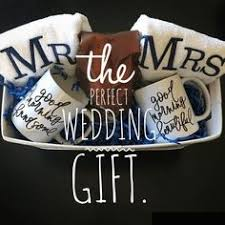 unique wedding presents ideas wedding gift basket filed with personalized gifts made with my