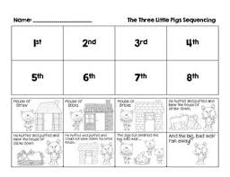 pigs story sequencing activity fairy tales