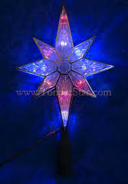 Star Christmas Tree Toppers Lighted - lighted star christmas tree topper christmas lights decoration