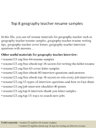 Resume Sample For Lecturer Top 8 Geography Teacher Resume Samples 1 638 Jpg Cb U003d1432822869