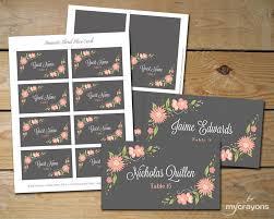 place cards diy romantic floral editable place card template diy printable