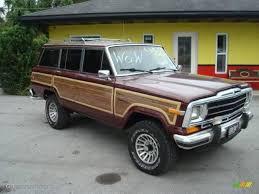 1988 grenadine metallic jeep grand wagoneer 4x4 17411643