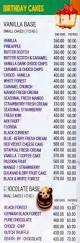cakery bakery menu kandivali east menu card prices rates cost