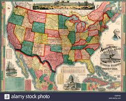 Map Of Canada And United States by Centennial American Republic And Railroad Map Of The United States