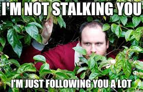 Stalking Memes - 18 stalking meme that will not creep you out love brainy quote