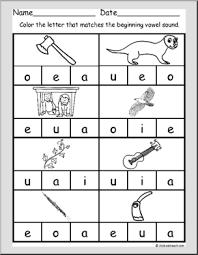 beginning vowels worksheet set u0027 pre reading i abcteach com