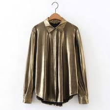metallic blouse shop gold metallic blouse on wanelo