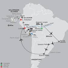 South America Map Islands by South America Tours Cosmos Budget Vacations