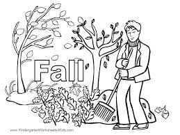 download kindergarten fall coloring pages