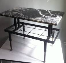 coffee table mid century spanish iron and marble coffee table