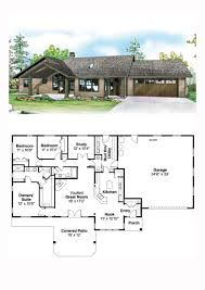 contemporary country prairie style ranch traditional house plan