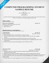 programming resume exles science student resume exles computer programming student resume