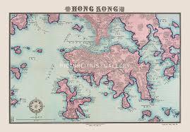 Map Of Hong Kong China by Picture This Le4 Bilingual Map Of Hong Kong Reproduction