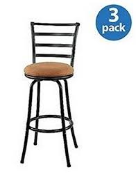 29 Inch Bar Stools With Back Amazon Com 29 Inch Black Metal Swivel Counter Stools With Full