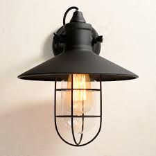 Industrial Wall Sconce Vintage Style Industrial Wall L Mini Retro Wire Cage Iron Wall