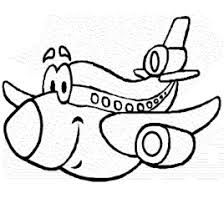 cute airplane coloring toddlers transportation coloring