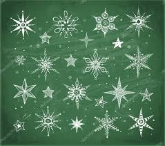 snow109doodle sketch snowflakes and stars u2014 stock vector