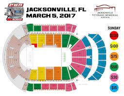 Jacksonville Fl Map Professional Bull Riders Jacksonville Invitational