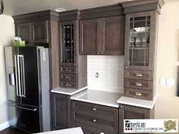 painted kitchen cabinets with stained doors newly completed project banker s kitchen homecrest dover