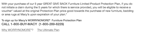 furniture protection plan macy u0027s