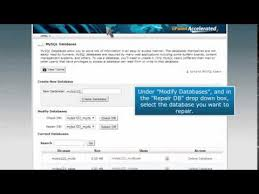 Mysql Repair All Tables by How To Repair A Mysql Database In Cpanel Youtube