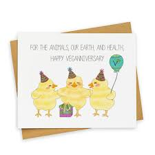 veganuary veganniversary belated birthday card cute belated