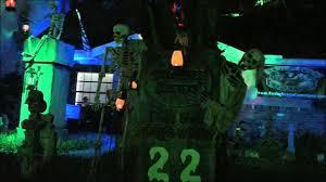 halloween yard art halloween yard display walk through 2014 youtube