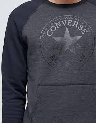 cheap mens converse chutaylors converse rib front sweatshirt in