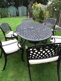 6 Seat Patio Dining Set - cast aluminium 6 seat patio dining set in montrose angus gumtree