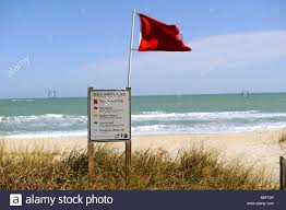 Floridas State Flag Red Beach Warning Flag At Avalon State Park Florida Atlantic East