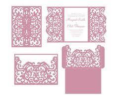laser cut wedding invitations set flourish cricut templates gate