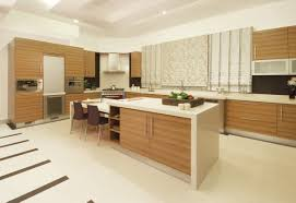 Built In Kitchen Cabinet Alluring Brown Color Plywood Kitchen Cabinets Come With Single