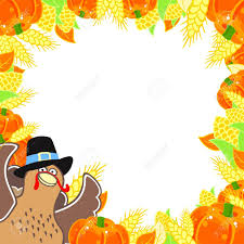 thanksgiving frame with a turkey royalty free cliparts vectors