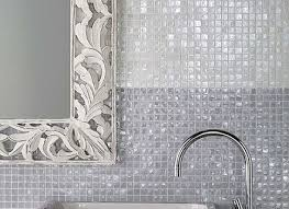 Glass Mosaic Tile Blue Mosaic Tile Antique Bathroom Mirror - Bathroom mosaic tile designs