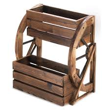 Wagon Wheel Home Decor Wholesale Rustic Wagon Wheel Garden Decor Two Tier Planter Box