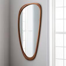 Mid Century Mirror | mid century asymmetrical floor mirror west elm