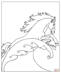 neptune u0027s sea horse coloring page free printable coloring pages