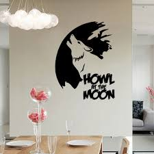 wolf wall stickers sticker creations online the howling wolves wall sticker creatives wolf pvc