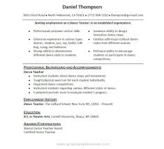 Resume Template Libreoffice Dance Resumes Template Learnhowtoloseweight Net