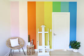 diy rainbow accent wall u2013 a beautiful mess