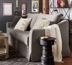 soma brady slope arm slipcovered sleeper sofa 200 cm pottery