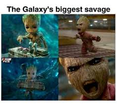 Guardians Of The Galaxy Memes - baby groot the galaxy s biggest savage guardians of the galaxy