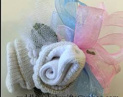 Baby Sock Corsage Baby Shower Baby Wrist Or Pin On Baby Sock Corsage