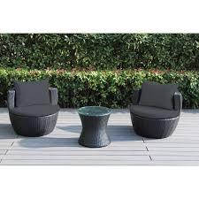 Wicker Patio Chairs Walmart Ohana 3 Outdoor Wicker Patio Furniture Conversation Set